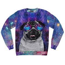 galaxy sweater galaxy pug sweatshirt