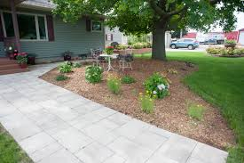 Patio And Walkway Designs by Paver Patio And Walkway For Outdoor Living Area