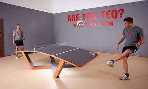 table tennis and ping pong teqball table tennis meets ping pong video