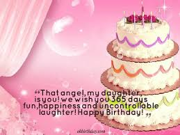 daughter birthday wish with cake and quote golfian com