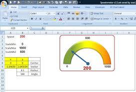Excel Speedometer Template Excel Another Speedometer Or Semicircular Great Software