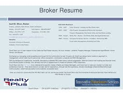 Real Estate Broker Resume Sample by Sample Mortgage Broker Resume