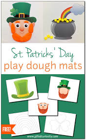 st patrick u0027s day play dough mats for fine motor play free