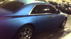 matte rolls royce ghost stunning matte blue rolls royce ghost youtube