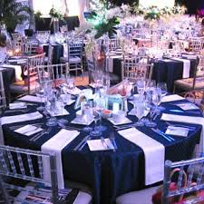 navy blue table linens chair man mills provided navy blue table linens and clear chiavari