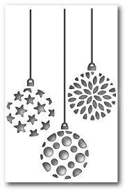 sts die ornament trio cutout