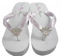 wedding flip flops princess wedding flip flops wedge bridal sandals bridesmaid
