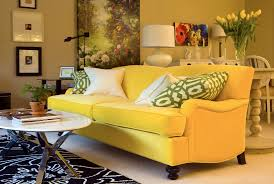 yellow living room set