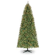 9 ft pre lit slim willow pine artificial tree clear
