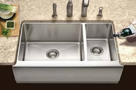 stainless farmhouse kitchen sink houzer apron front farmhouse kitchen sinks brilliant 30 sink 6 ideas