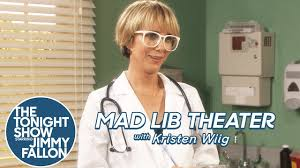 mad lib theater with kristen wiig youtube