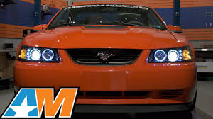 Black And Orange Mustang 1999 2004 Mustang Raxiom Black Projector Headlights Dual Led