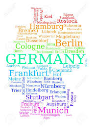 Trier Germany Map by Map Of Germany Colorful Outline Made Of City Names German