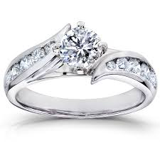 ctw igi lab grown diamond engagement ring 14k white gold