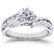 ctw igi lab grown diamond engagement ring 14k white gold