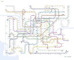 Seoul Subway Map by Bruce The Korean Seoul Metropolitan Subway Seoul Metro System