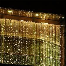 amazon com curtain icicle lights agptek 3m x 3m 8 modes warm