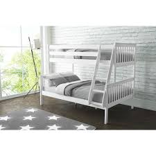 Oxford Triple Bunk Bed In White Small Double Furniture - Double bunk beds uk