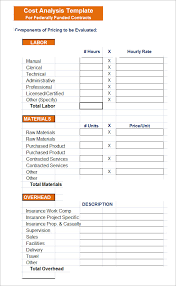 Cost Benefit Analysis Template Excel Sle Cost Analysis 8 Documents In Pdf Word Excel
