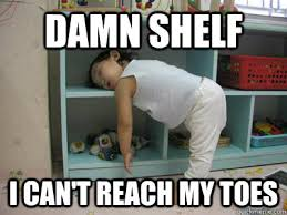 Meme Sleepy - damn shelf i can t reach my toes sleepy asian girl quickmeme