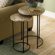 Small Round Accent Table by Discoveries Coco Bead Nesting Tables By Bassett Furniture