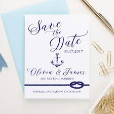 Nautical Save The Date Personalized Nautical Stationery Anchor Stationery Modern Pink
