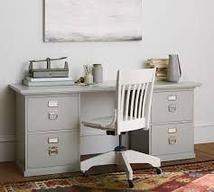 Pottery Barn Catalina Desk Bedford 4 Drawer Rectangular Desk Norfolk Gray Desk
