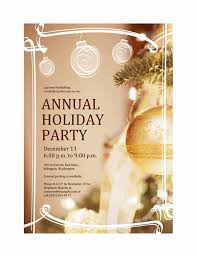 holiday party invitation for business event office templates