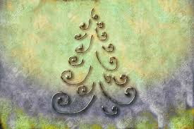 abstract christmas tree greeting card background rustic stock