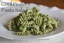 recipe cool pesto pasta salad simply organized