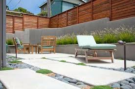 modern patio backyard design patio modern patio design gray retaining wall