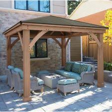 12x12 Patio Gazebo Wooden Gazebos Ebay