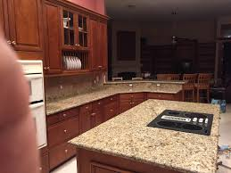 Kitchen Island Granite Countertop Santa Cecilia Granite Countertops Installation Kitchen