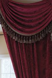 Burgundy Curtains With Valance Www Celuce Customize Curtains Swag Valance