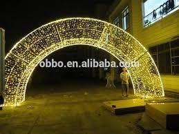 outdoor decoration light arch door motif archway lighted