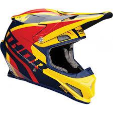 motocross helmet thor sector ricochet motocross helmet navy yellow 2018 mxweiss
