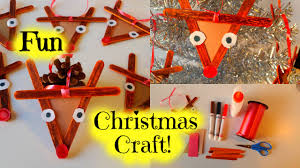how to make a popsicle stick reindeer easy kid christmas craft