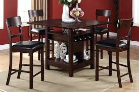 counter height dining table with storage dining tables with storage counter height tables wine storage