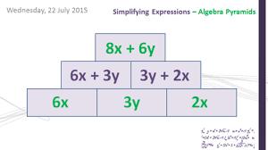 algebra simplifying basic expressions by weteachmaths teaching