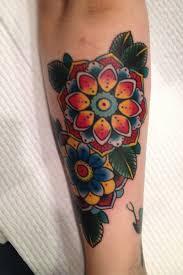 48 beautiful old flowers tattoos
