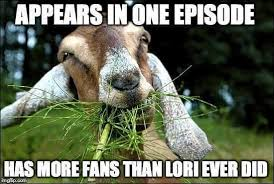 Lori Walking Dead Meme - meme tabitha the goat has more fans than lori ever did