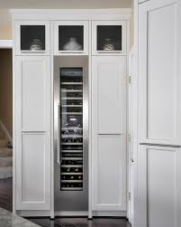 kitchen room covering a refrigerator with wood beverage