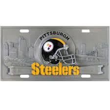discover pittsburgh steelers 3d license plate online