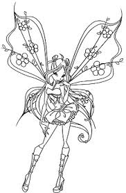 winx club fairy coloring pictures fae drawings