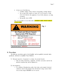 ansi z535 table 130 7 f mm electrical safety policy procedure draft 2