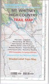 Sequoia National Park Map Mt Whitney High Countrytrail Map Tom Harrison Maps Tom