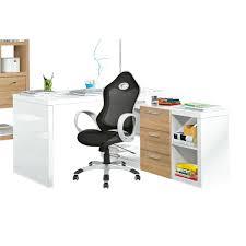 Schreibtisch Hochglanz Eck Schreibtisch Mit Regal Angelina Hochglanz Weiß Ca 140 X 74 X