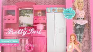 barbie dream pink kitchen set tiatia youtube barbie dream pink kitchen set tiatia