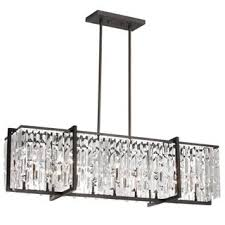 Broadway Linear Crystal Chandelier 30 To 40 Inches Width Chandeliers Homeclick