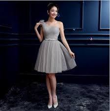 Light Gray Bridesmaid Dress Blue Grey Short Dress Naf Dresses